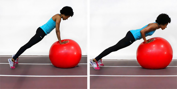 Ball push up