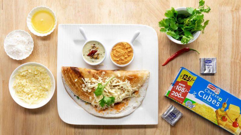 Cheese Dosa recipe|How to make Cheese Dosa