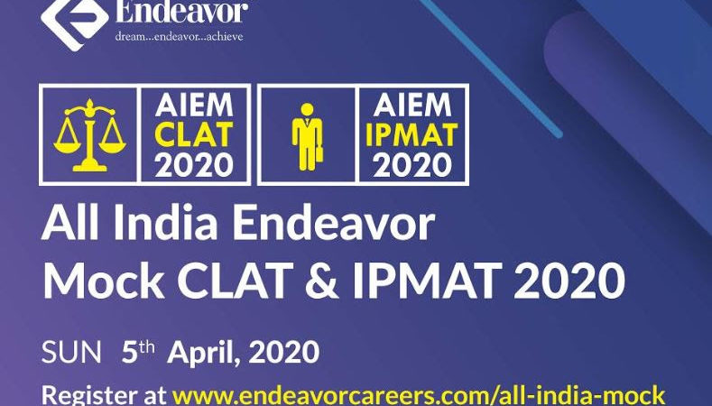 Endeavor Conducts the Biggest Online All India Open Mock CLAT and IPMAT 2020