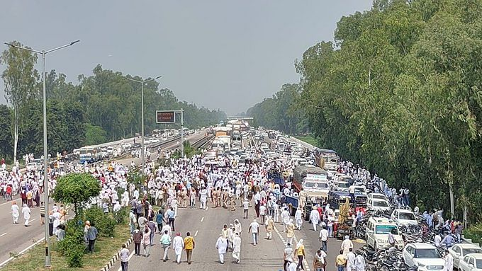 Haryana Farmers Block Highways And A Railway Line Against Farm Reform Bills