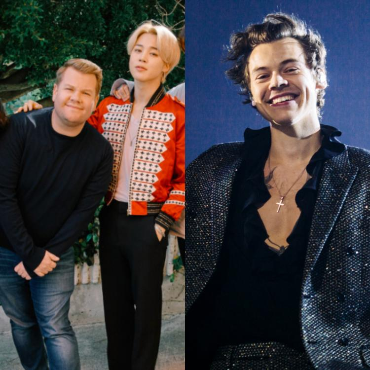 Late-Night Talk Show Host James Corden Was Asked To Pick Between BTS Singer Jimin and Harry Styles