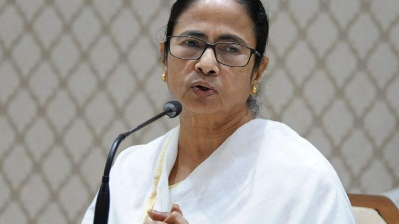 Mamata Banerjee at protest contrary to Hathras Gang-Rape