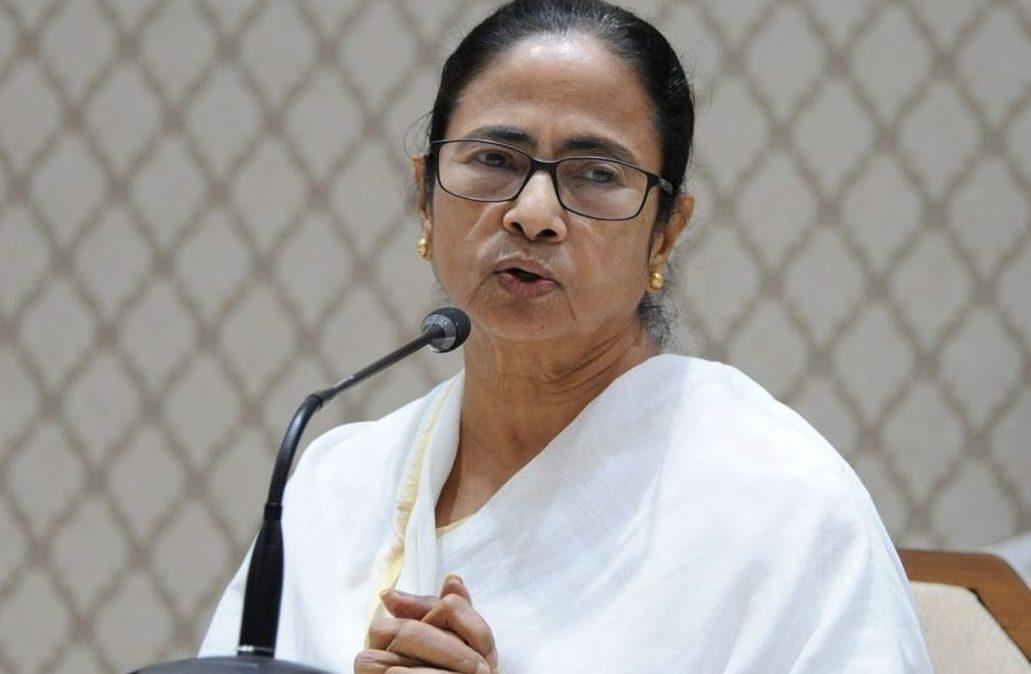 Mamata Banerjee at protest contrary to Hathras Gang-Rape