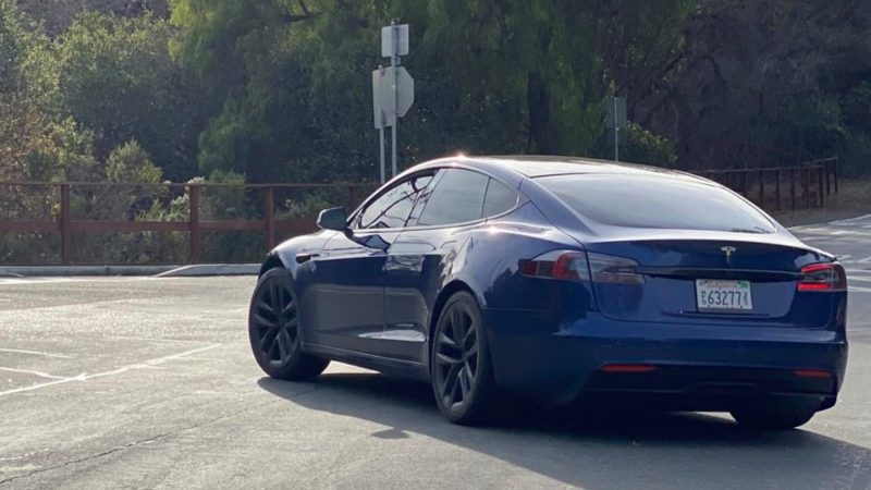 Tesla Model S prototype with refresh design spotted in the wild