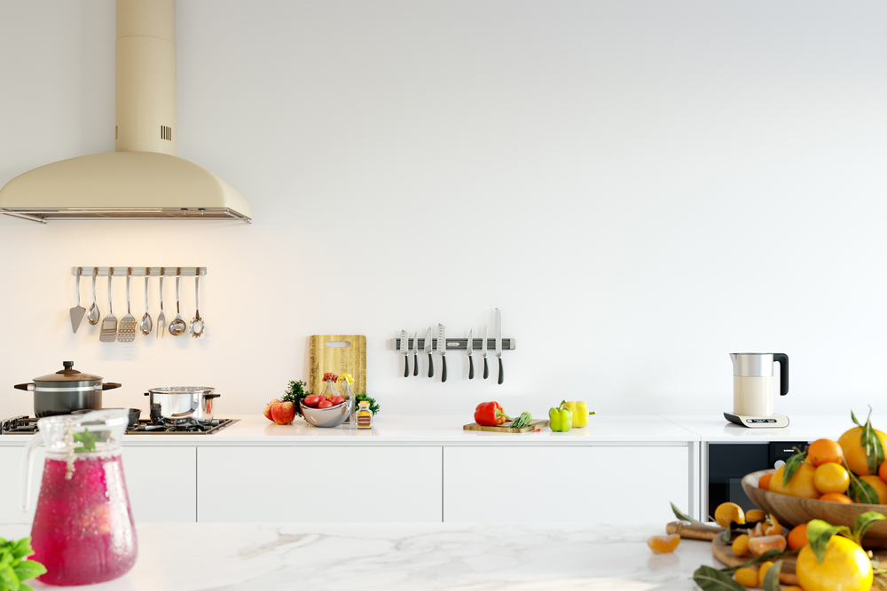 What is the most popular color for kitchen walls?