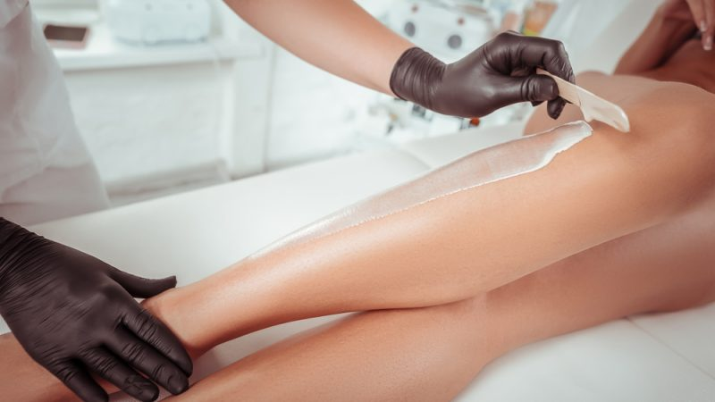 How do you make waxing feel less painful before your wedding?