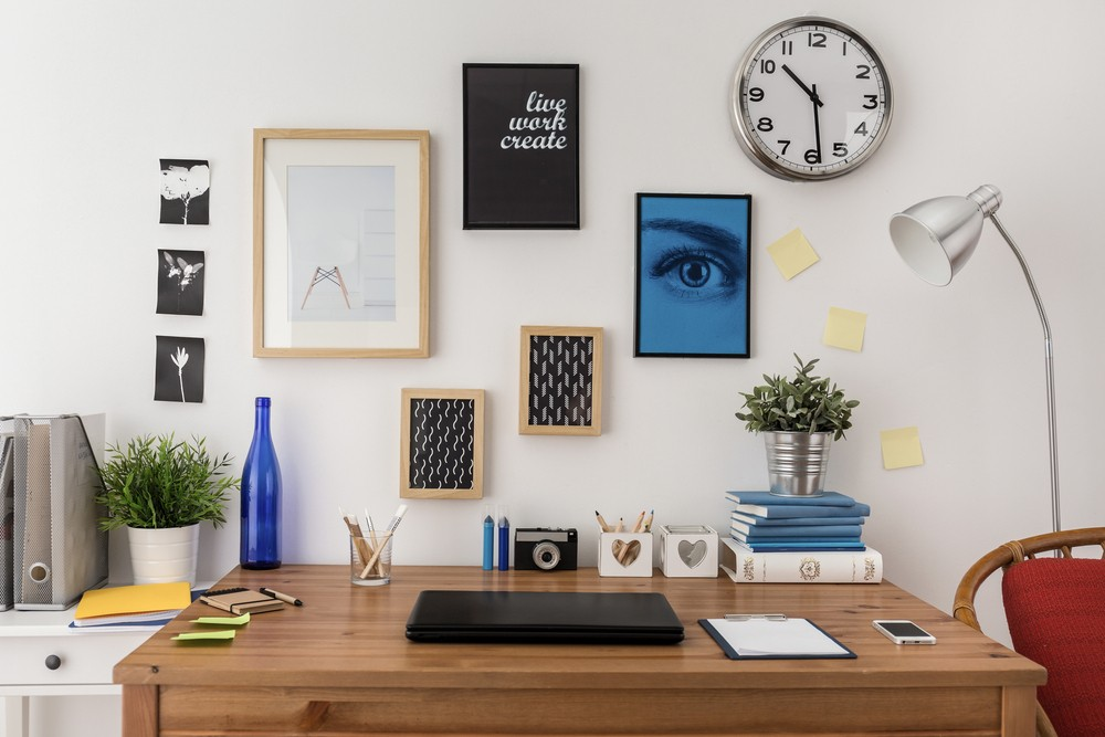 These are home office wall decor ideas